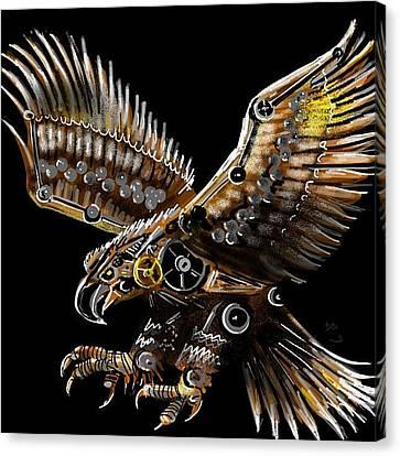 #steampunk #eagle #eagleds2 #bird Canvas Print