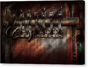 Steampunk - Electrical - Motorized  Canvas Print by Mike Savad