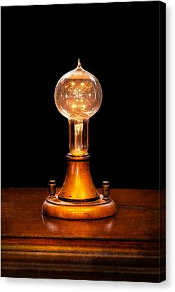 Steampunk - Electricity - Bright Ideas  Canvas Print by Mike Savad