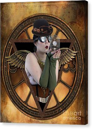 Steampunk Fairy Canvas Print by Juli Scalzi