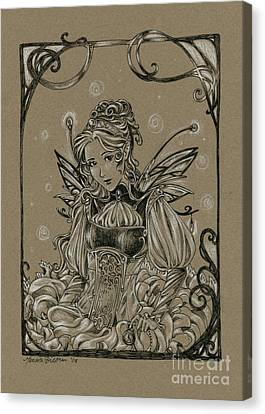 Steampunk Fairy Canvas Print by Meredith Dillman