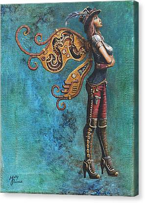 Steampunk Fairy Canvas Print by Molly Prince