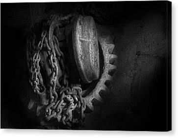 Steampunk - Gear - Hoist And Chain Canvas Print by Mike Savad