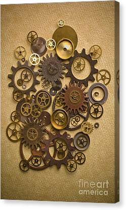 Steampunk Gears Canvas Print by Diane Diederich