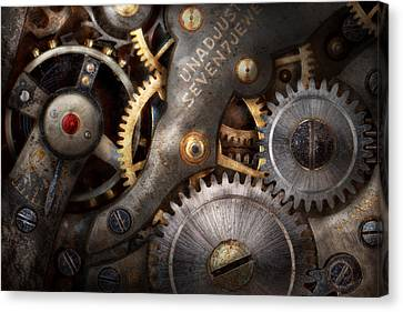 Steampunk - Gears - Horology Canvas Print by Mike Savad