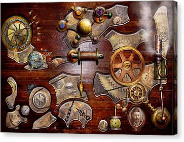 Reverse Art Canvas Print - Steampunk - Gears - Reverse Engineering by Mike Savad