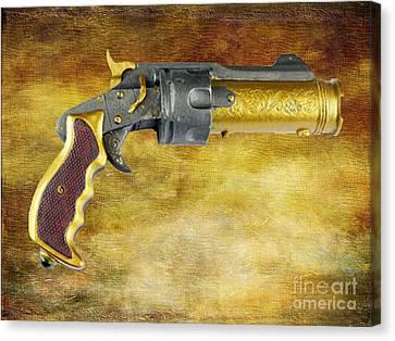 Steampunk - Gun - The Hand Cannon Canvas Print by Paul Ward