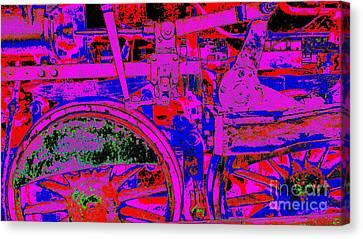 Steampunk Iron Horse #4 Canvas Print by Peter Gumaer Ogden
