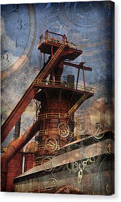 Steampunk Iron Mill Canvas Print by Davina Washington
