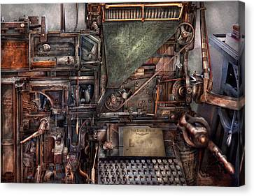 Steampunk - Machine - All The Bells And Whistles  Canvas Print by Mike Savad
