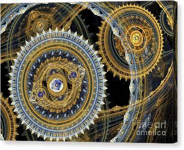 Steampunk Machine Canvas Print by Martin Capek