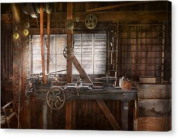 Steampunk - Machinist - My Tinkering Workshop  Canvas Print by Mike Savad