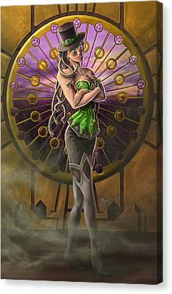 Steampunk Medusa Canvas Print by Rob Carlos