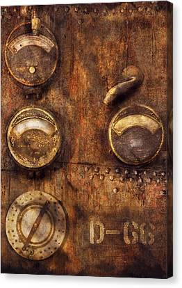 Steampunk - Meters D-66 Canvas Print by Mike Savad