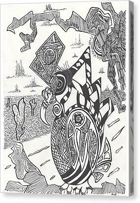 Steampunk Owl Canvas Print by Alexis Escobar