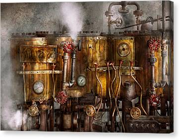 Steampunk - Plumbing - Distilation Apparatus  Canvas Print by Mike Savad