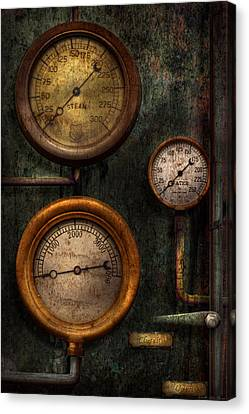 Steampunk - Plumbing - Gauging Success Canvas Print by Mike Savad