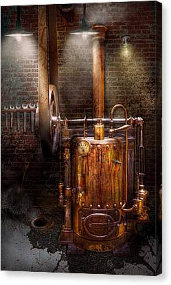 Steampunk - Powering The Modern Home Canvas Print by Mike Savad
