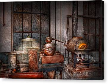 Steampunk - Private Distillery  Canvas Print by Mike Savad
