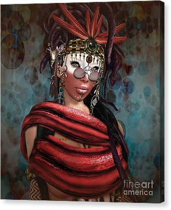 Steampunk Shaman Canvas Print