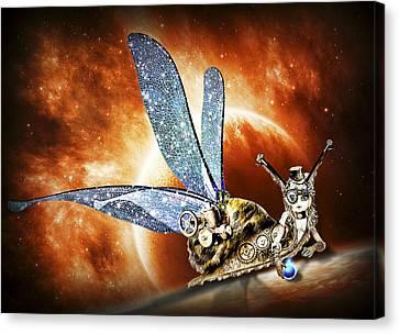 Steampunk Snail Canvas Print