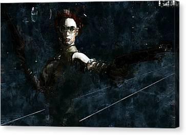 Steampunk Stand-off Canvas Print by Maynard Ellis