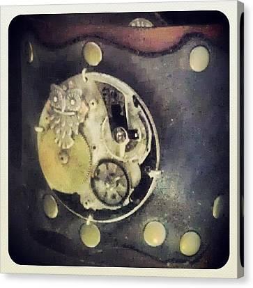 #steampunk #steampunkcuff Canvas Print by Claudia Garcia Trejo