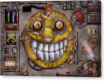 Steampunk - The Joy Of Technology Canvas Print by Mike Savad