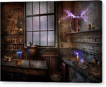 Steampunk - The Mad Scientist Canvas Print by Mike Savad