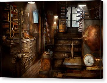Tool Maker Canvas Print - Steampunk - Tool Room Of A Mad Man by Mike Savad