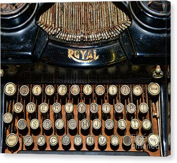 Steampunk - Typewriter -the Royal Canvas Print