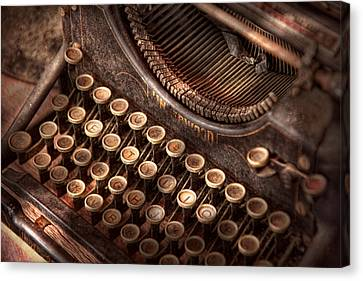 Steampunk - Typewriter - Too Tuckered To Type Canvas Print