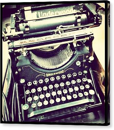 #steampunk #typewriter #writeshit Canvas Print