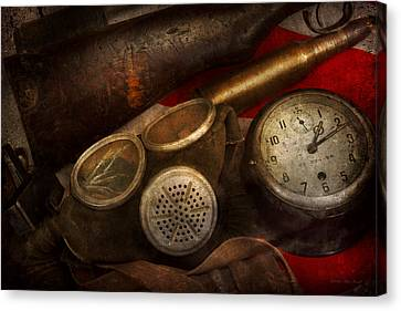 Steampunk - War - Remembering The War Canvas Print by Mike Savad