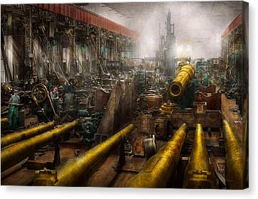 Tool Maker Canvas Print - Steampunk - War - We Are Ready by Mike Savad