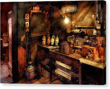 Steampunk - Where Experiments Are Done Canvas Print by Mike Savad