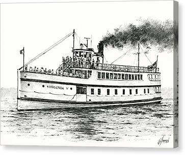 Steamship Virginia V Canvas Print