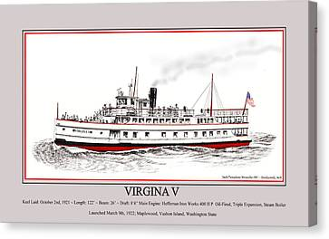Steamship Virginia V Launch Poster Canvas Print by Jack Pumphrey