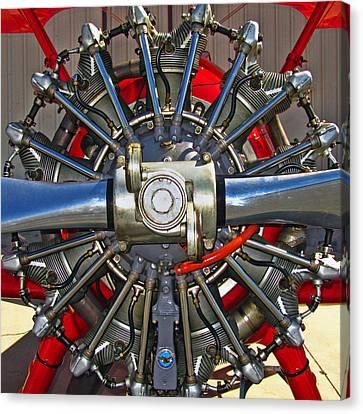 Stearman Engine Canvas Print by Dale Jackson