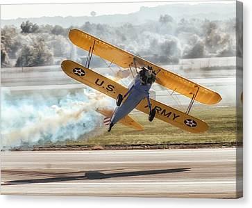 Stearman Model 75 Biplane Canvas Print by Alan Toepfer