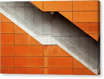 Steel Canvas Print by Alida Van Zaane