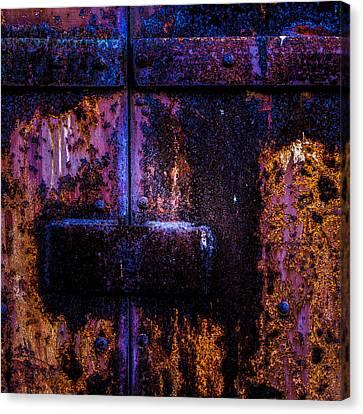Steel Door Number Three Canvas Print