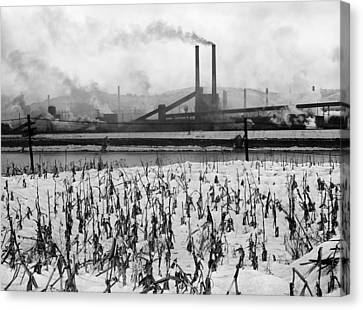 Steel Factory, 1941 Canvas Print by Granger