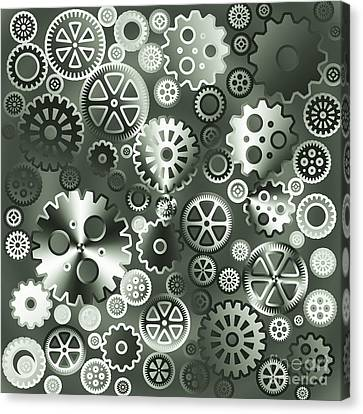 Steel Gears Canvas Print by Gaspar Avila