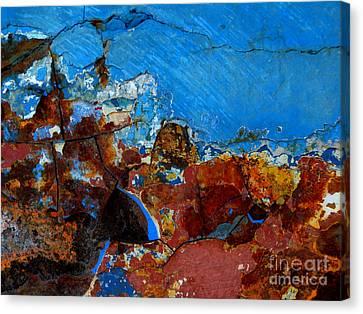 Steel Hull Abstract Canvas Print by Robert Riordan