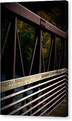 Canvas Print featuring the photograph Steel Lines by Cathy Shiflett