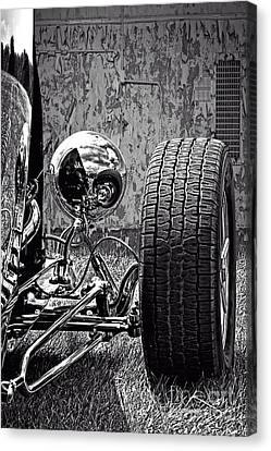 Steel On Wheels Canvas Print