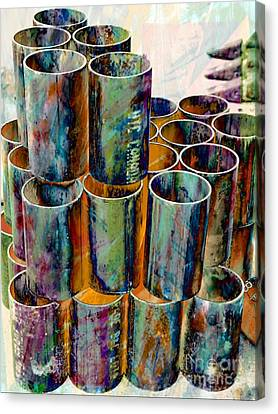 Steel Pipes Canvas Print