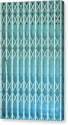 Steel Shutters Canvas Print by Antony McAulay