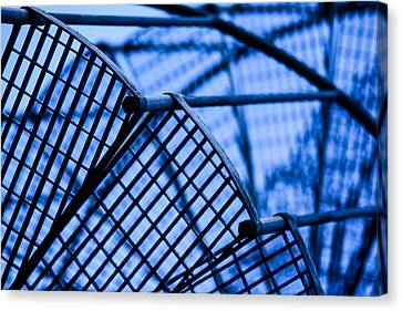 Steel Stairs  Closeup Canvas Print
